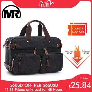 Image 1 - MARKROYAL płótno skórzane męskie torby podróżne bagaż podręczny torby męskie worki marynarskie torba podróżna ukryj pasek na ramię Dropshipping