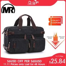Markroyal キャンバスレザーメンズトラベルバッグ手荷物バッグ男性バッグ旅行トート隠すショルダーストラップドロップシッピング