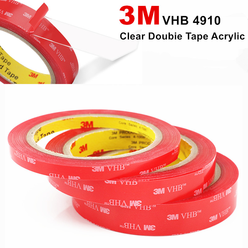 Foam-Tape Clear Acrylic Transparent High-Temperature 3M VHB Office/home-Decoratron Thick