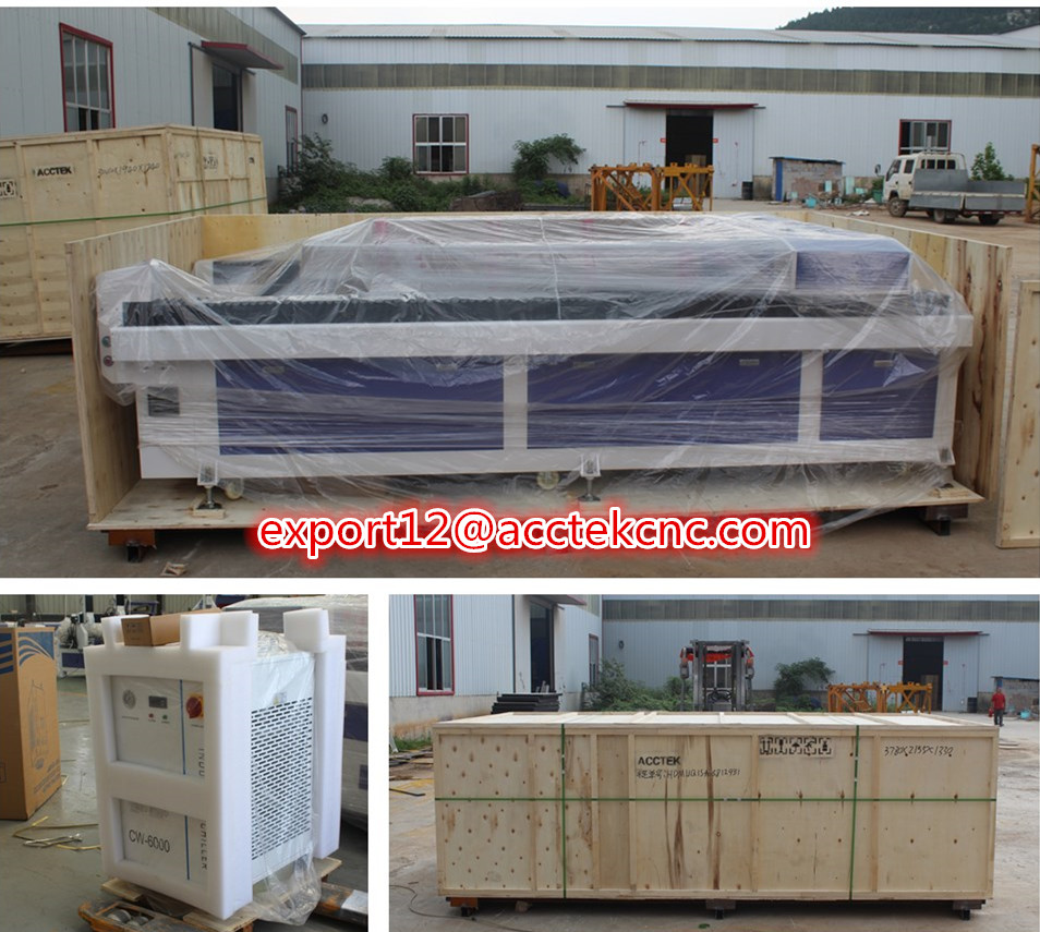 Cheap Laser Metal Cutting Machine AKJ1530H Co2 Laser Kit For Wood And Metal Cutting 180w 280w