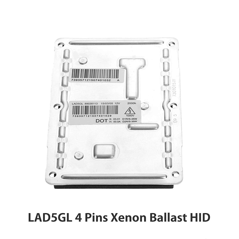 Updated Xenon HID Ballast Headlight Control Unit Assembly LAD5GL Fit for Audi BMW E81 E87 Volvo Cadillac CTS SRX Dodge Jaguar Premium Replacement Computer Module for 89035113 3D0907391B