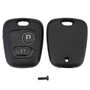 Image 5 - 10pcs 2 Buttons Remote Key Flip Fob Car Key Case Shell Without Blade For Peugeot Partner Expert Boxer SX9 Citroen D40