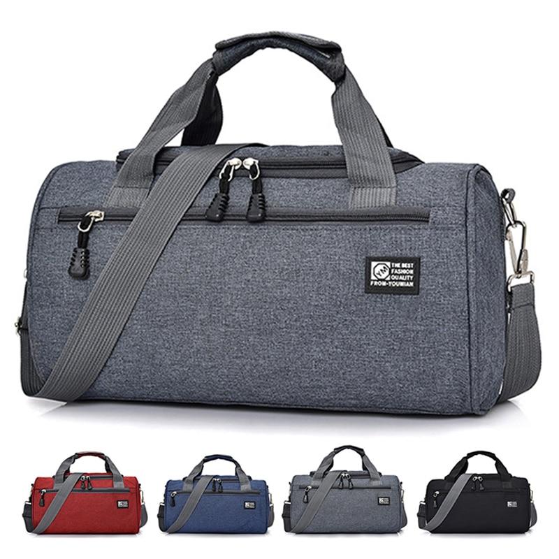 Men Travel Sport Gym Bag Light Luggage Women Training Fitness Travel Handbag Cylinder Duffel Weekend Crossbody Shoulder Bag Pack