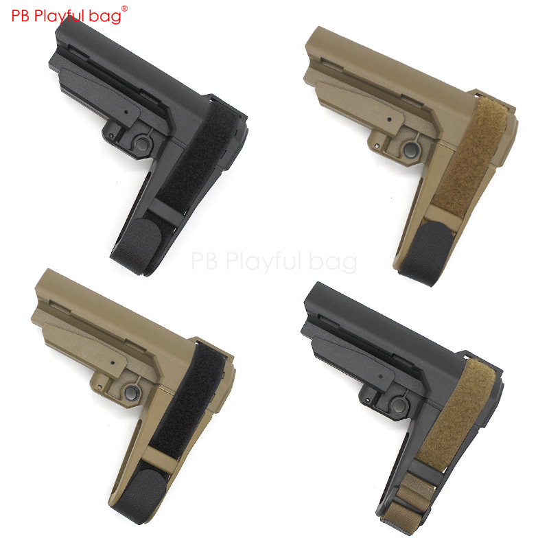 Outdoor CS Tactical Nylon SBA3 Tied Hand Rear Support Water Bullet Gun SLR 556 M4 Modification Accessories DIY Toys Parts KD57
