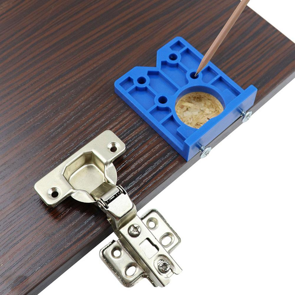 35mm Hinge Drilling Jig Concealed Guide Hinge Hole Guide Accessories Drilling Tool Door Woodworking Cab Opener Locator Hole C9G2