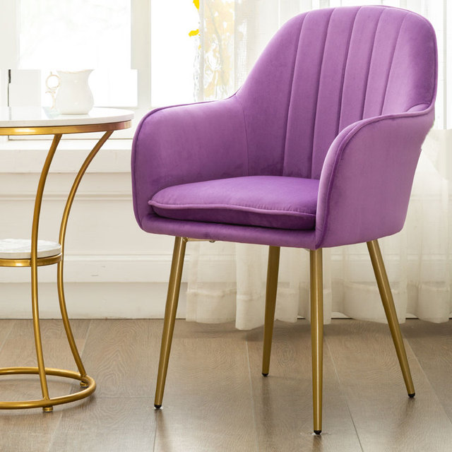 Nordic Ins Modern Casual Coffee Chair Wrought Iron Golden Chair Dining Chair Nail Salon Chair Makeup Net Red Chair 5
