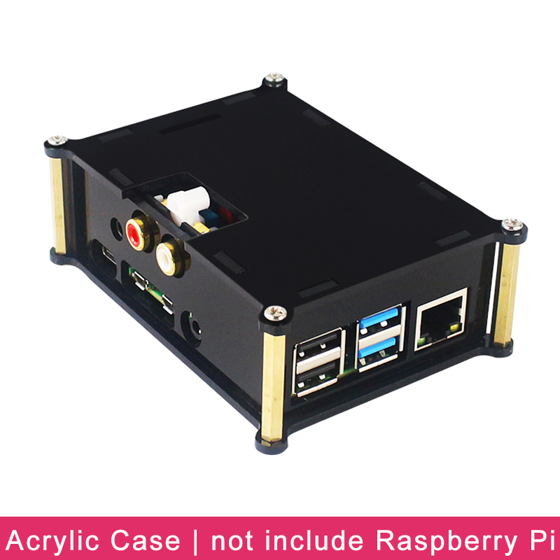 Raspberry Pi 4 Model B PiFi DAC+ V2.0 Sound Card Acrylic Case Audio Board Box Shell For Raspberry Pi 4 DIFI DAC Extension Board