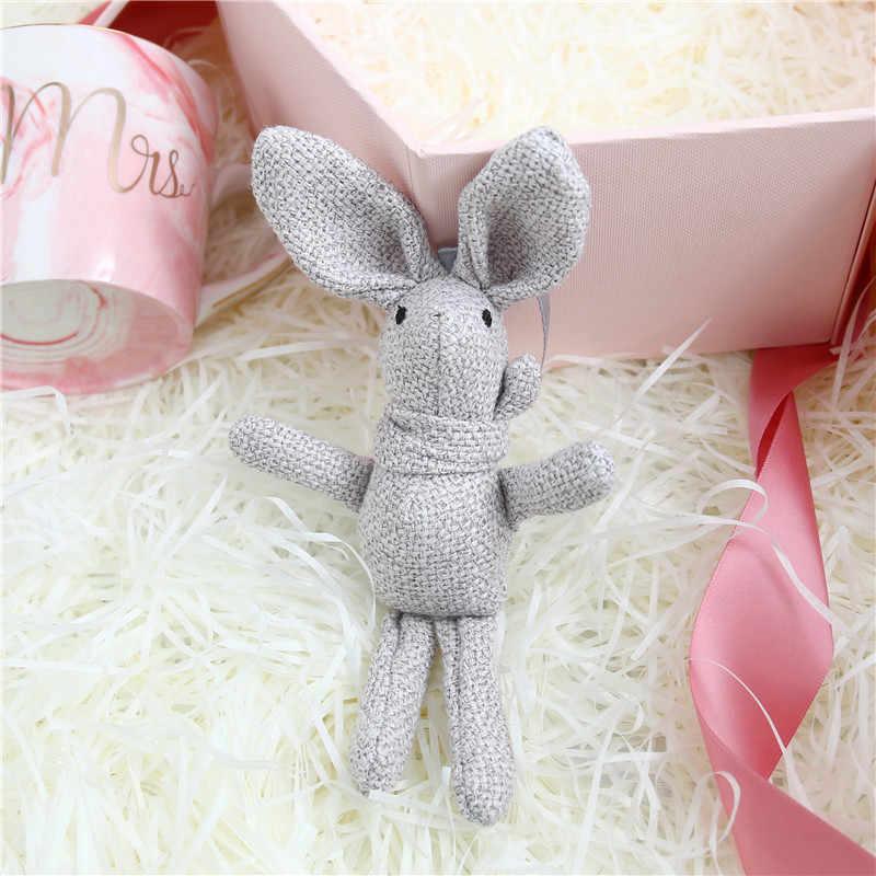 جديد أرنب أفخم الحيوان محشوة فستان أرنب مفتاح سلسلة لعبة طفل ألعاب من نسيج مخملي باقة أفخم الدمى