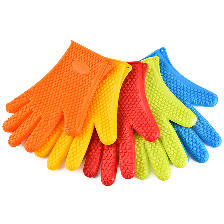 Waterproof Slip-resisting Silicone Gloves Microwave Oven Insulated Gloves High-temperature Resistant Heat Resistant Bakery Glove