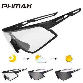 Phmax photochromic ciclismo óculos uv400 esportes ao ar livre óculos de sol anti brilho leve bicicleta ciclismo miopia quadro 1