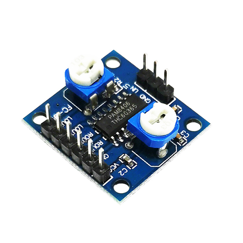 1PCS PAM8406 Digital Amplifier Board With Volume Potentiometer 5Wx2 Stereo