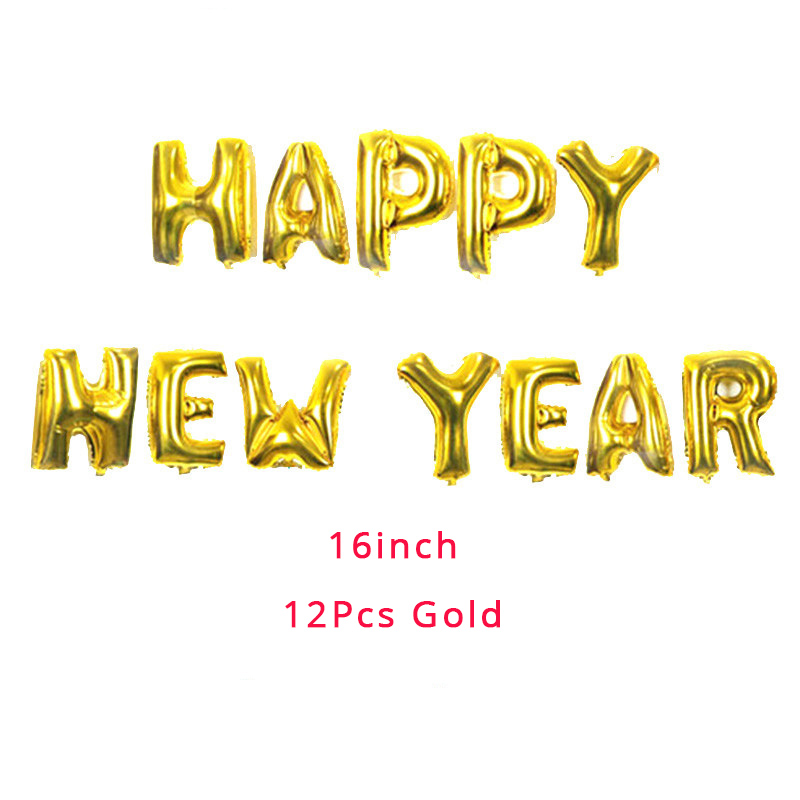Happy New Year 2020 Foil Balloon Set 2019 Merry Christmas Eve Party Decorations