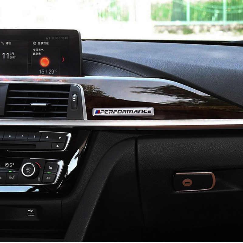 1 PCS Desempenho Rotulagem Etiqueta Do Carro Interior Do Carro Para bmw M Adesivo X1 X3 X4 X5 X6 X7 e46 e90 e39 e60 f10 f20 Carro acessórios Do Carro