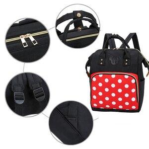 Image 5 - Mickey Minnie Frauen Rucksack Casual Reisetasche für Jugendliche Schule Tasche Große Kapazität Weibliche Schultern Taschen Mode BAG0006