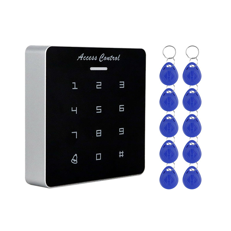 MOOL DC12V Electronic Access Control Keypad RFID Card Reader Access Controller With Door Bell Backlight For Door Security Lock S