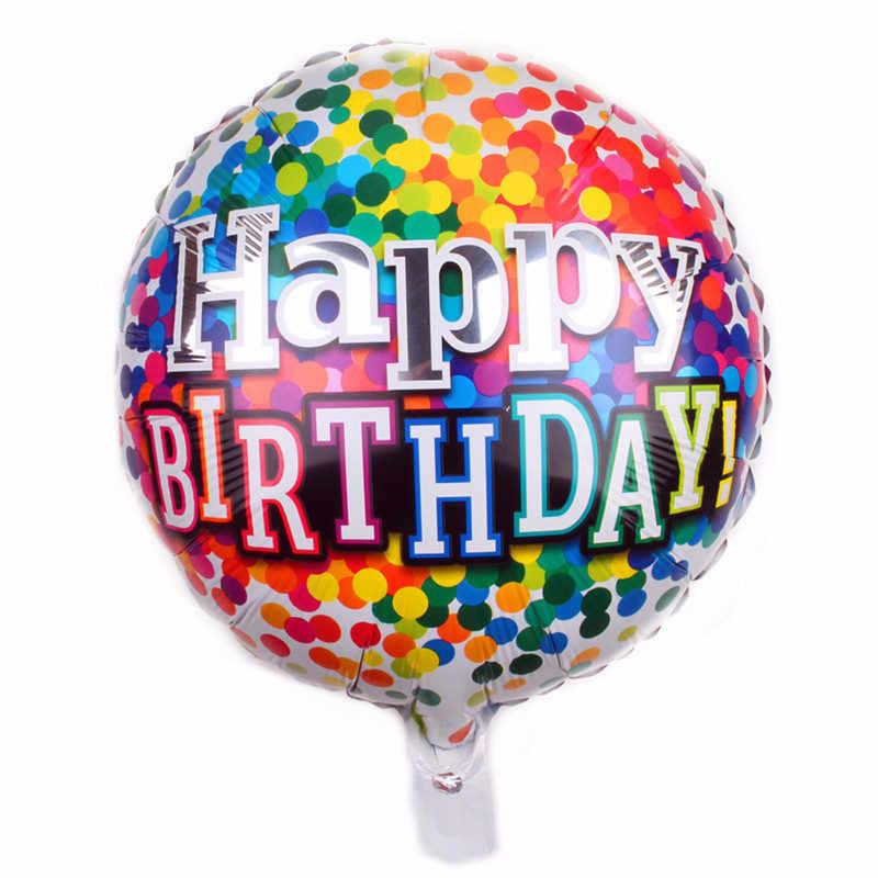 1PC 18 אינץ יום הולדת שמח בלוני אותיות רדיד בלוני הליום בלוני אוויר עבור תינוק כדורי מסיבת יום הולדת קישוטי globos