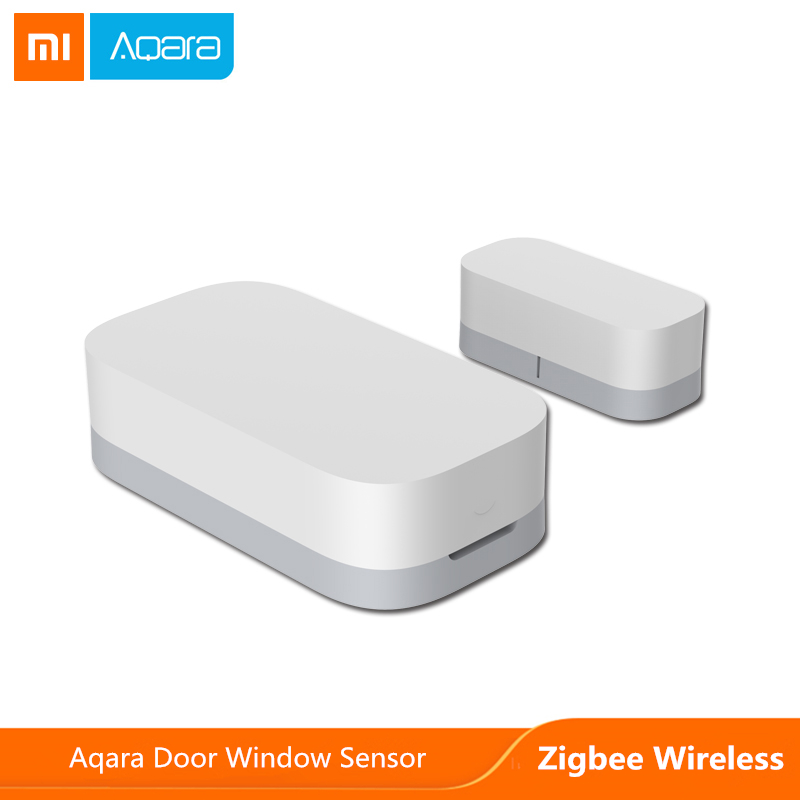 Xiaomi mijia aqara porta janela sensor zigbee conexão sem fio inteligente mini sensor de porta trabalho com android ios app controle