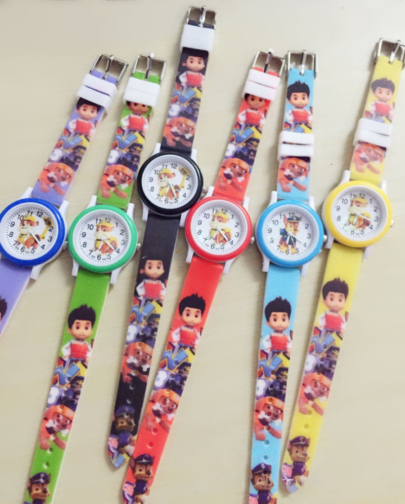 Paw Patrol Marshall Watch Time Develop Intelligence Learn Dog Everest Action Anime Figure Patrulla Canina Chase Rubble Toy
