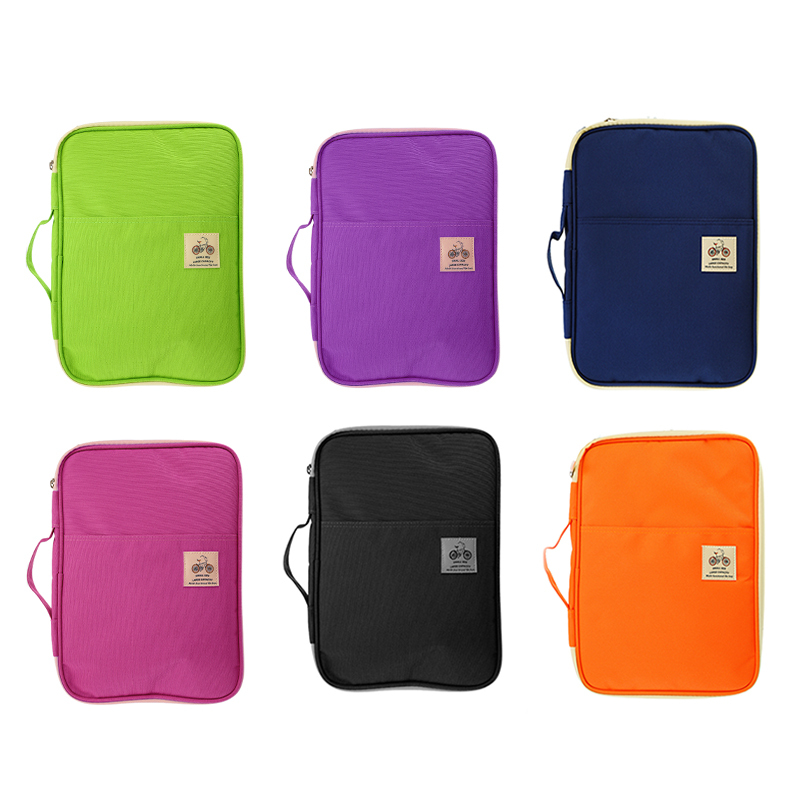 A4 Multifunction Business Holder Case  6 Colors Document Organizer Folder Ipad Bag Office Filing Briefcase Storage Stationery