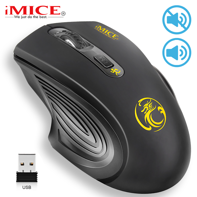 Imice USB Wireless Mouse 2000DPI Adjustable USB 2.0 Receiver Optical Computer Mouse 2.4GHz Ergonomic Mice For Laptop PC Mouse