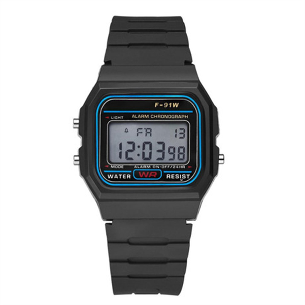 Multifunctional Men's Waterproof Digital Sports Watch With LED Light Smart Wristwatch Casual Luminous Watche With Pedometer