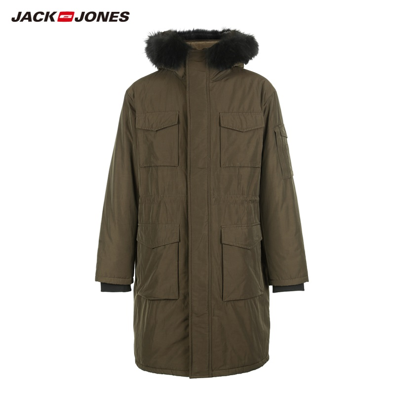 JackJones Men's Long Parka Coat Warm Long Jackets Coat Menswear Style 218409504