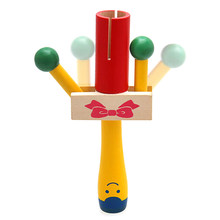Wooden Handheld Rattle Shaker Percussion Musical Instrument Kids Educational Toy Family Interaction Children's Toy(China)