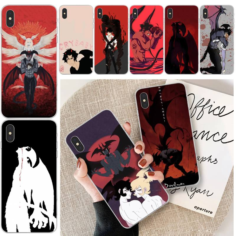 Devilman Crybaby Phone Case Transparent For Iphone 11 12 Pro Max Xr X Mini 7 8 PLUS Coque Cover|Phone Case & Covers| - AliExpress