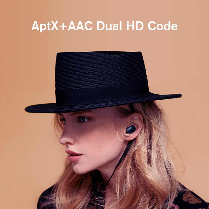 Haylou gt1plus aptx hd real som sem fio fones de ouvido, toque countrl dsp cancelamento de ruído bluetooth fones qcc 3020 chip