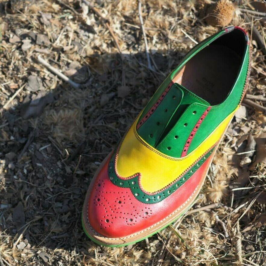 Men PU Leather Fashion Shoes Low Heel Fringe Shoes Dress Shoes Brogue Shoes Spring Ankle Boots Vintage Classic Male Casual LP215
