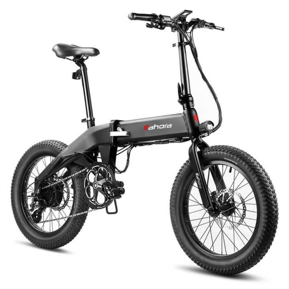 2020 Model Eahora 48V350W electric folding font b bike b font pas 80miles hydraulic disc 8