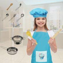 Супер анти-падение нержавеющая сталь детская кухонная мини-кухня игрушка набор детские Кухонные Игрушки из нержавеющей стали