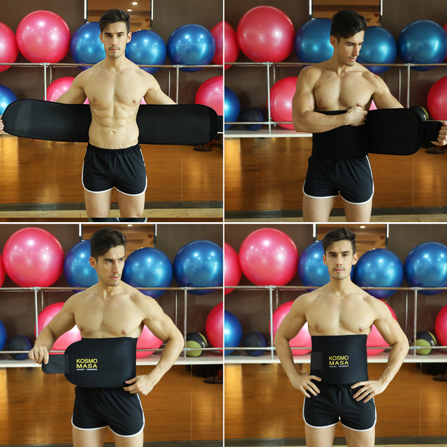 KOSMO MASA Corset Latex Cinchers Waist Trainer Belt For Men Waist Trimmer Tummy Slimming Neoprene Body Shaper Shapewear WT014 5