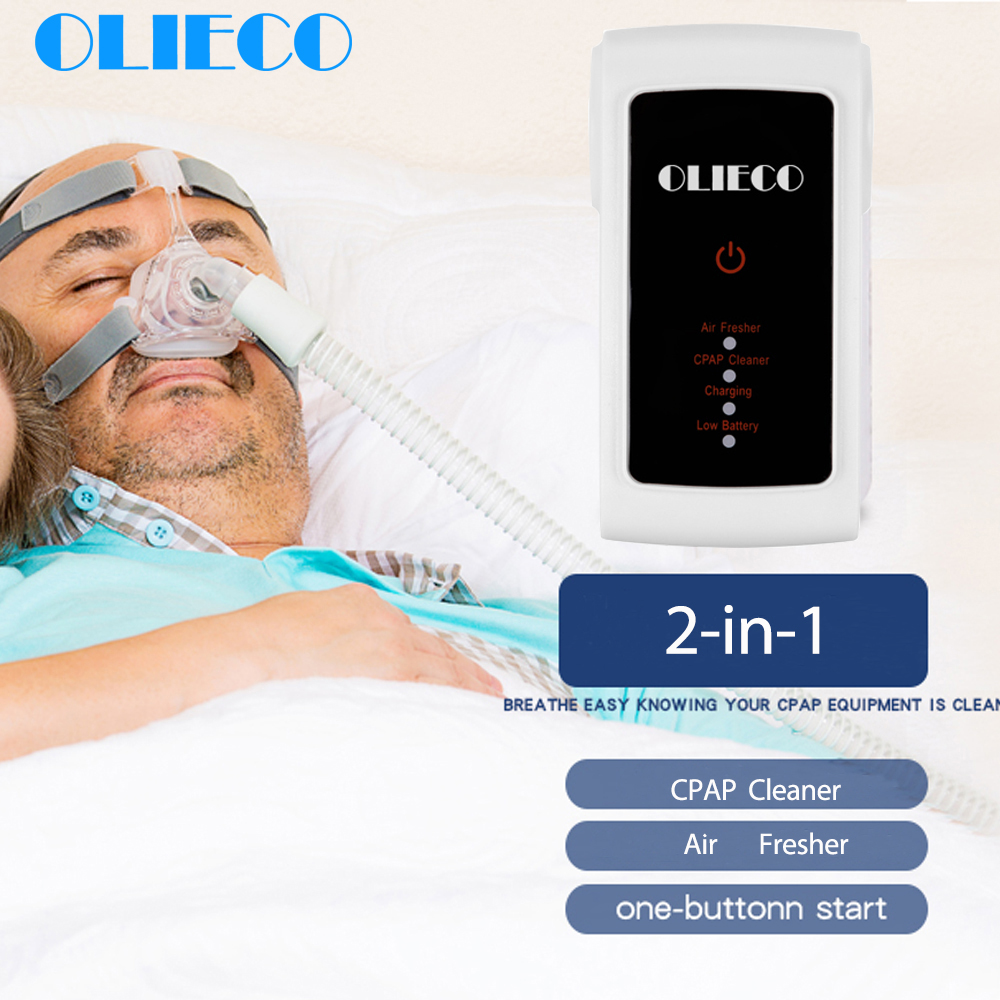 OLIECO CPAP Cleaner USB Rechargeable Ozone Purifier Mini BPAP AutoCPAP Sterilization Device Portable Air Fresher Kill Bacteria