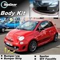 Бампер для губ  дефлектор для губ для Fiat Abarth 500 500C  передний спойлер  юбка для TopGear  Friends  тюнинг автомобиля  комплект для тела  полоска
