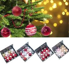 12 Pcs Christmas Large Hanging Ball Ornaments For Xmas Tree - Shatterproof Decorations 8 Cm Pendant