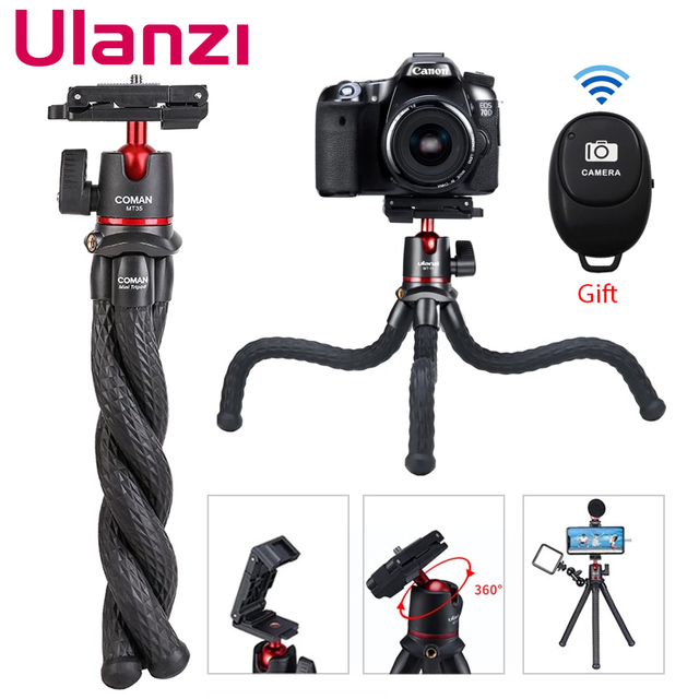 Ulanzi MT 11 Travel Flexible Octopus Tripod for Smartphone DSLR SLR Vlog Tripod for Camera iPhone Huawei Portable 2 in 1 Tripod