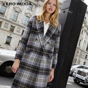 Image 3 - معطف نسائي من Vero Moda بطية صدر منقوشة وطويل من الصوف المستقيم