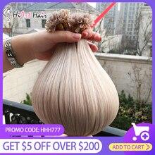 HiArt 0,8 г U кончик наращивание волос человека Реми волос салон нарисованные двойником волосы прямые наращивание ногтей наконечник слияние 18