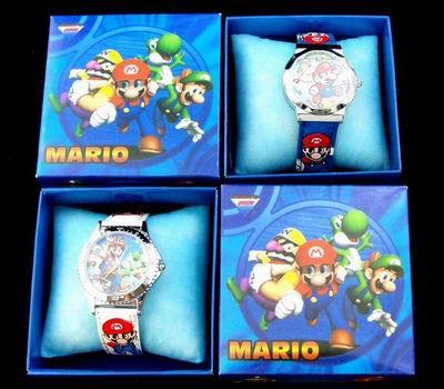 Super Mario Anime Cartoon Creative Boxed Children's Watches Wholesale Men's Boxed Cartoon Watches