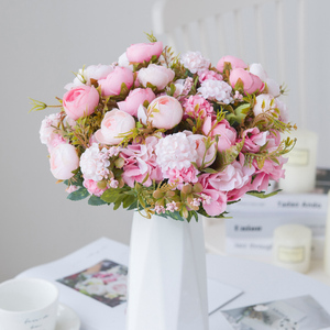 30cm Artificial Rose Bouquet Home Decoration Accessories Wedding Holiday Supplies Living Room Furnishings Diy Flower Arrangement