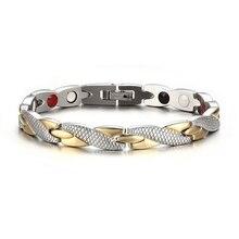 Магнитный браслет для здоровья для Для женщин Мощность терапевтические магнитики браслеты для Для женщин Для мужчин унисекс
