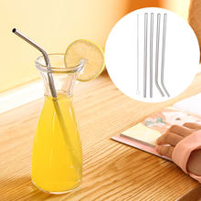 Reusable Stainless Steel 4pcs Mug Party Supplies Metal Straws+Brush Straws+Brush Durable Tool Straw Drinks Cup(China)