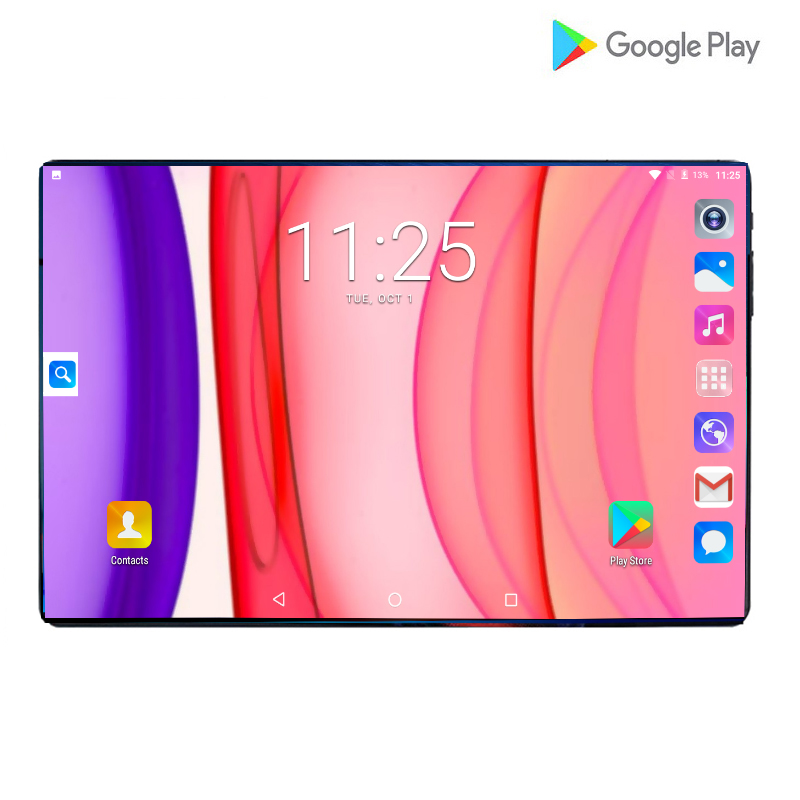 2019 New Google Android 9.0 10 Inch Octa Core Tablets 4G LTE Phone Call Tablet 6GB 64GB Dual SIM 8.0MP Wifi GPS Tablets 10 Pad