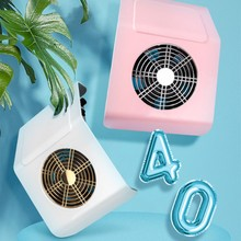 40W Nail Vacuum Cleaner Fan Vacuum Cleaner Manicure Tool Salon Manicure Equipment Nail Dust Suction Dust Collector Nail Tool arieslibra 40w nail art salon suction dust collector manicure filing acrylic uv gel tip machine cleaner salon manicure tools