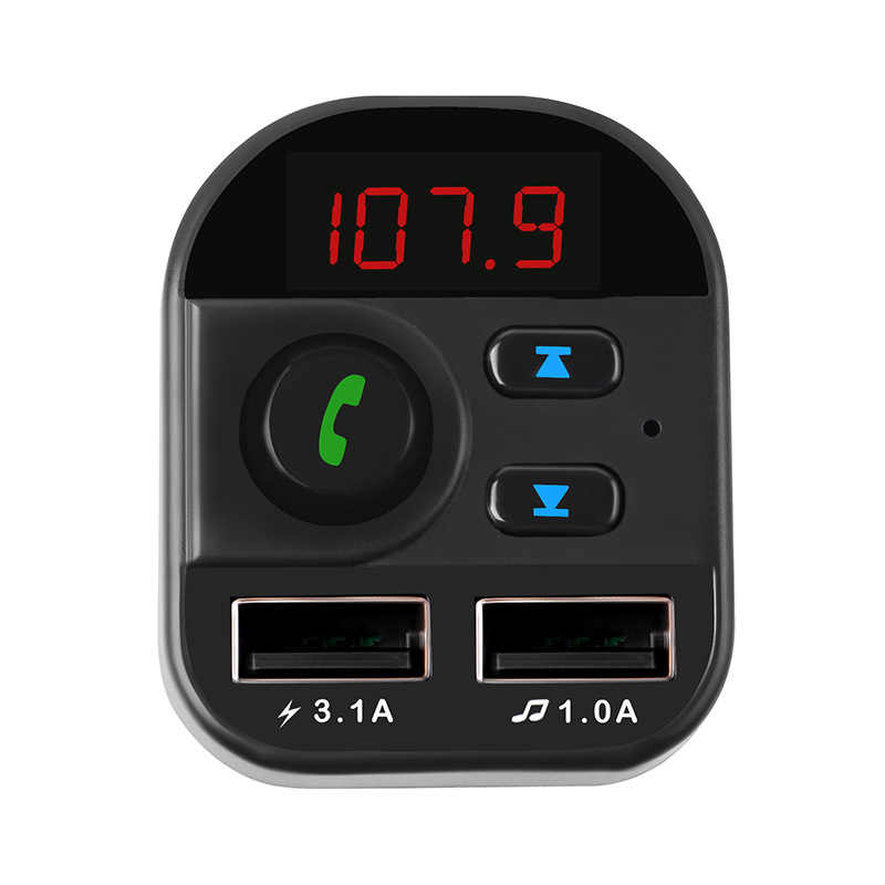 Fm Transmitter Bluetooth Nirkabel FM Transmitter MP3 Radio Adapter dengan 3.1A Dual USB Charger Cepat
