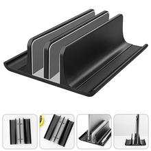Vertical Laptop Stand Aluminum ABS Adjustable Desktop Double Slot Notebook Tablet Mount