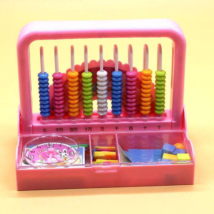 Mathematics Stationary Box Primary School Grade One Set Multi-functional Kindergarten Children Abacus Counter Nine-Line