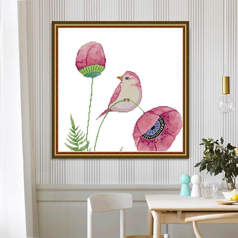 Вышивка крестом цветок и птица гостиная спальня свежий небольшой декоративное
