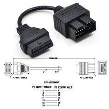 Elm327 obd 2 cabo para kia 20 pinos para 16 pinos obd2 obd ferramenta de diagnóstico scanner leitor código adaptador conector do carro cabo